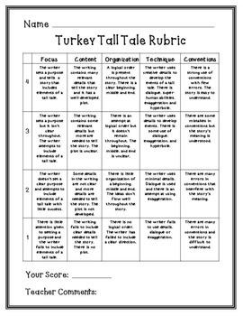 """Narrative Writing """"Turkey Tall Tales"""""""