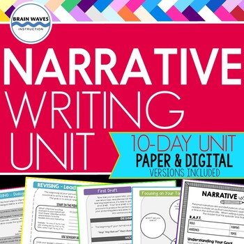 Narrative Writing Unit -  Personal Narrative- Google Classroom Distance Learning