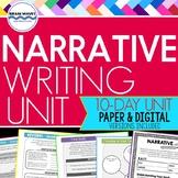 Narrative Writing Unit -  Personal Narrative- Google Classroom Distance Learning