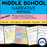 Narrative Writing Unit for Middle School-Distance Learning