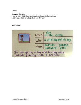 Narrative Writing Unit Grade 1