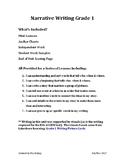 Narrative Writing Unit Grade 1