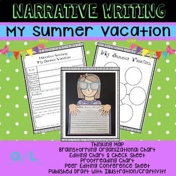 Narrative Writing Unit - My Summer Vacation