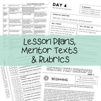 Narrative Writing Unit - Slides, Lesson Plans, Graphic Organizers & More!