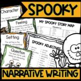 Halloween Narrative Writing Activities | Spooky Story Narrative Writing Unit