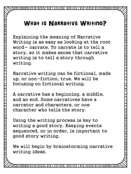 Narrative Writing Using Sensory Details