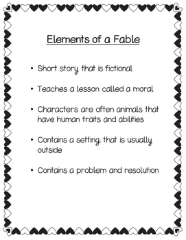 "Narrative Writing ""Valentine's Day Fables"""