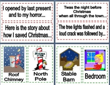 Narrative Writing Visual Prompts - Christmas Themed