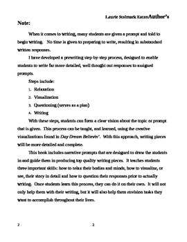 Narrative Writing Prompts: Day Dream Believin'