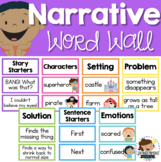 Narrative Writing Word Wall