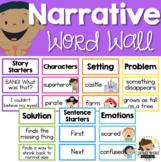 Narrative Writing Word Wall