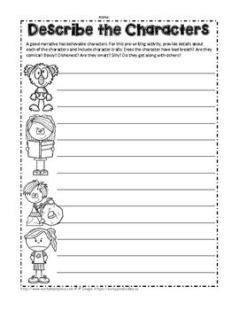 Narrative Writing Packet and teaching Ideas