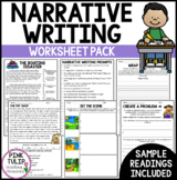 Narrative Writing Worksheet Pack - No Prep Lesson Ideas