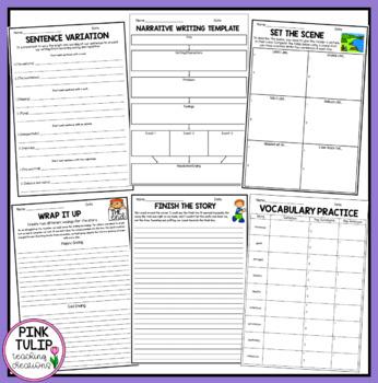 Narrative Writing Worksheet Pack - No Prep Lesson Ideas