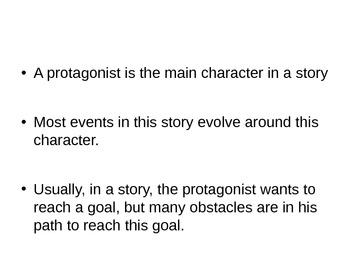 Narrative Writing Workshop-Protagonist