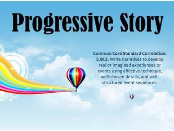 Narrative Writing - Writing Collaborative Progressive Stories FUN FUN FUN
