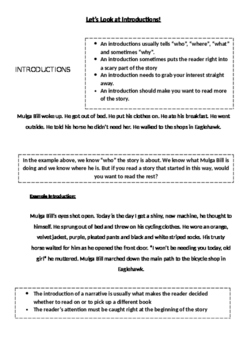 Narrative - Writing an Orientation