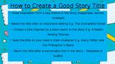 Narrative - Writing an Orientation Power Point Presentation