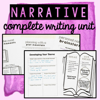 Personal Narrative Writing - COMPLETE UNIT for Writer's Workshop