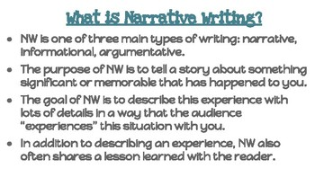 Narrative Writing mini-lesson