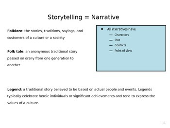 Narrative and Conflict PowerPoint