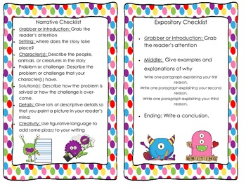 Narrative and Expository Checklist