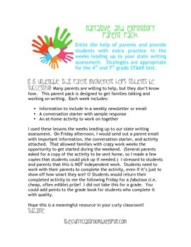 Narrative and Expository Parent Pack