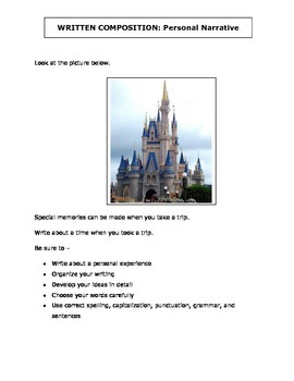 Narrative and Expository Writing Prompts