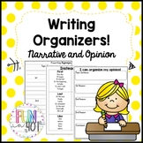 Narrative and Opinion Writing Organizers