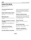 Narrative leads - minilesson