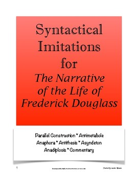 Narrative of Frederick Douglass Syntactical Imitations; AP Lang and Comp