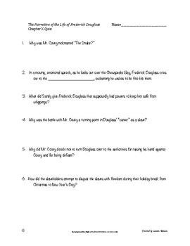Narrative of Life of Frederick Douglass BUNDLE: Quizzes & Syntactical Imitations