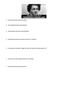 Narrative of the Life of Frederick Douglass, an American Slave Mini-Quiz