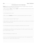 Narrative of the Life of Olaudah Equiano Thinksheet