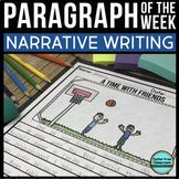 PARAGRAPH OF THE WEEK | Distance Learning | Digital & Print Included | NARRATIVE