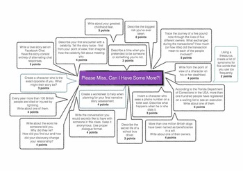 Engaging Narrative and Creative Writing Choice Menu with 17 Tasks!