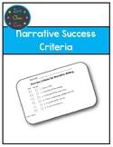 Narrative or Story Writing Success Criteria