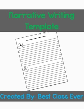Narrative or Story Writing Template