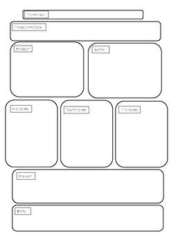 narrative planning template by shineon teachers pay teachers. Black Bedroom Furniture Sets. Home Design Ideas
