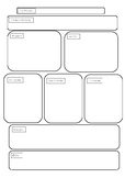 Narrative planning template
