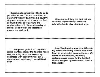 Narrative vs. Expository Task Cards