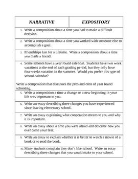 Narrative vs. Expository: identifying mode