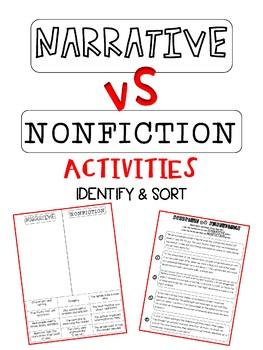 Narrative vs Nonfiction Activities