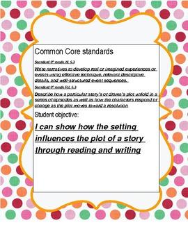 Narrative writing - Common Core Aligned