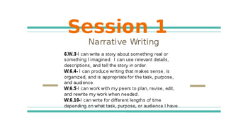Narrative writing Lucy C. 6th grade Session 1