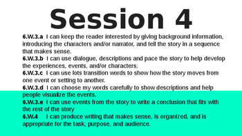 Narrative writing Lucy C. 6th grade Session 4