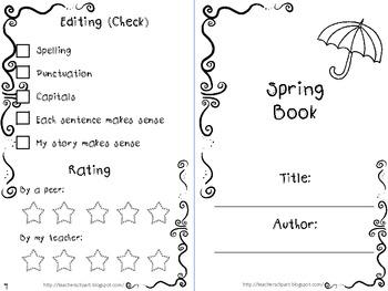 Narrative writing Season themed mini books {CCSS aligned}