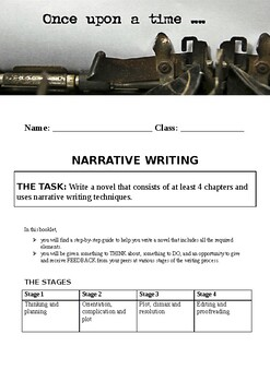 Narrative writing booklet