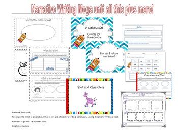 Narrative writing mega unit (nteractive Power-points and activities)