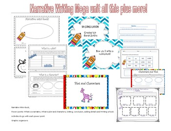 Narrative writing mega unit (nteractive Power-points and a